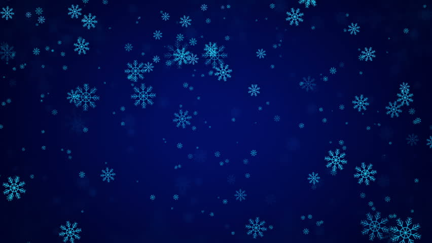Blue Christmas Snowflakes Background, Christmas Background Looped ...