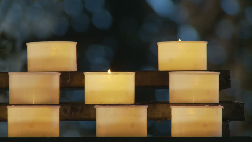 Rack focus church candles. Rome, Italy. 2011 | Shutterstock HD Video #12135554