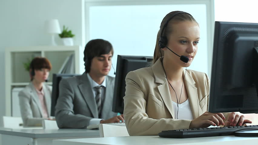 office centre video. modren centre row of call center operators at work  hd stock footage clip on office centre video shutterstock