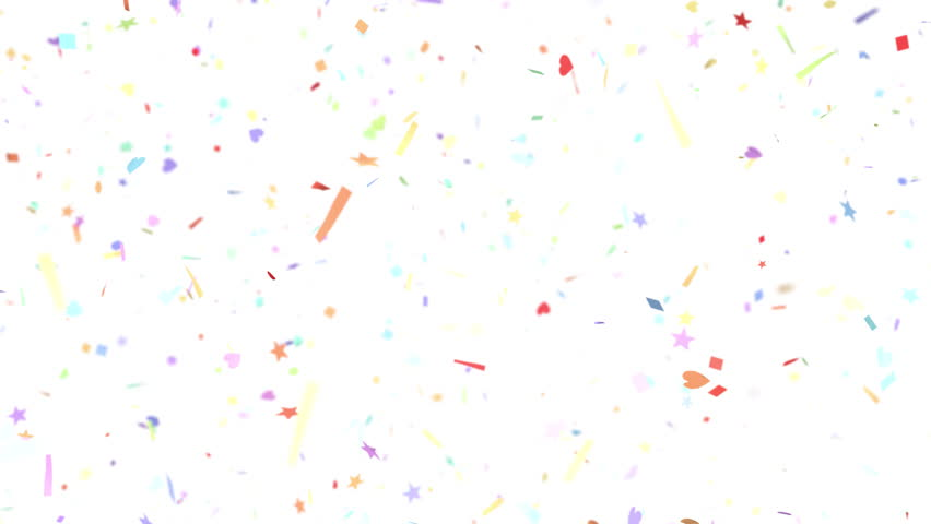 Confetti Shapes Falling Slow Motion Dof Loop 4k Stock Footage Clip