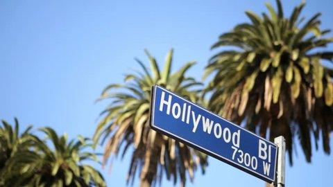 Street sign for Hollywood boulevard