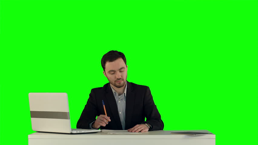 Angry boss with female worker in office on a Green Screen, Chroma Key. Professional shot on BMCC RAW with high dynamic range. You can use it e.g in your commercial video, business video, office theme. | Shutterstock HD Video #12221981