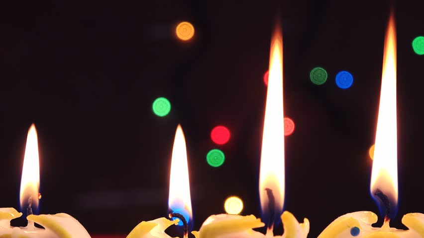 Candle light, romantic background for New Year, Christmas, Birthday or other holiday celebration event