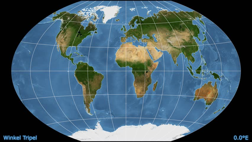 Physical World Travel Map With Airplanes Stock Footage Video - Physical world map