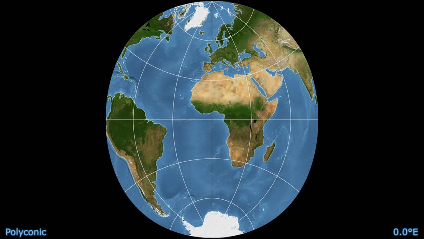 Distortion patterns animated world map in the bonne 25 degree distortion patterns animated world map in the polyconic projection blue marble raster used gumiabroncs Images
