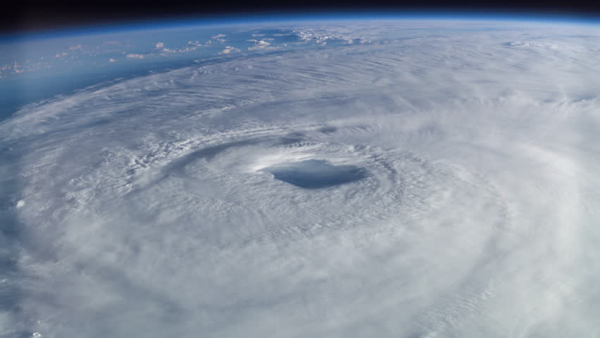 Powerful category 5 hurricane churns in the Pacific Ocean.