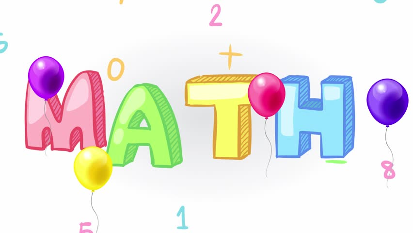 Stock Video Clip Of Animation Of Simple Colorful Mathematics Math