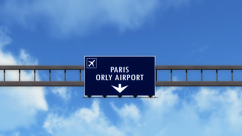 4K Passing under Paris Orly France Airport Highway Sign with Matte 3D Animation Cinema 4K 4096x2304 ultra high definition | Shutterstock HD Video #12479831