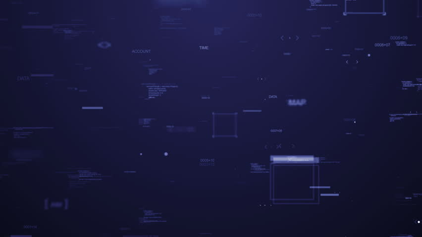 Passing through random elements, digits, arrows and other items  on dark background , loopable | Shutterstock HD Video #12508631
