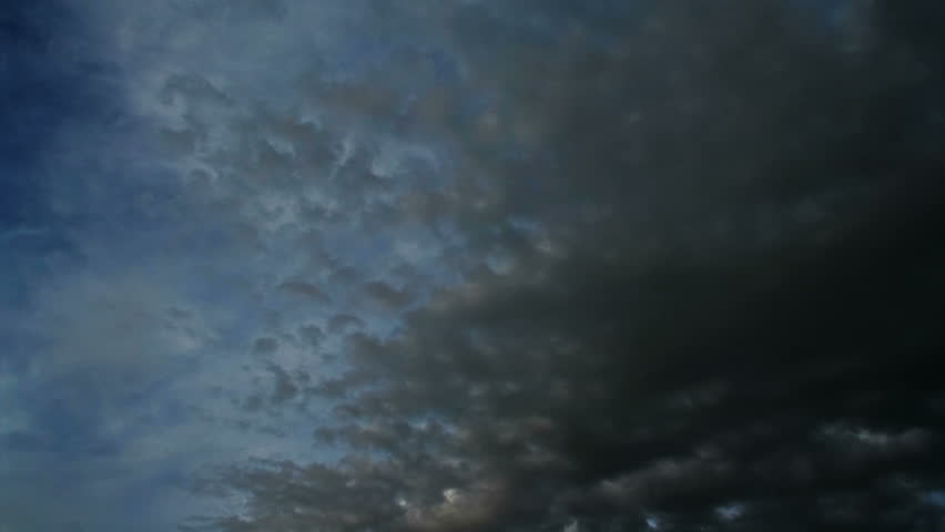 Timelapse of black clouds moving fast | Shutterstock HD Video #1253341