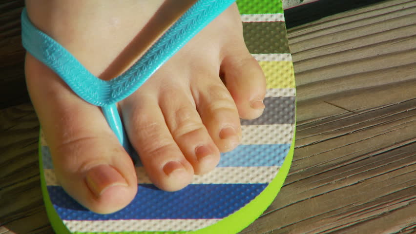 Stock Video Of Close-Up Of Womens Feet In Sandals -8579