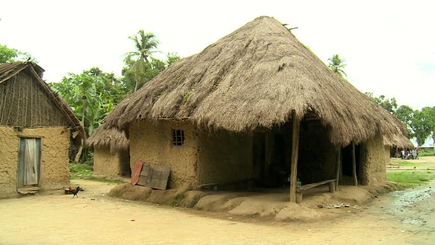 Poor Village In Rural ...