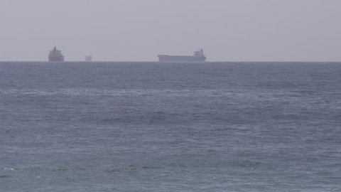 Large ships in distance
