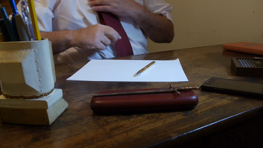 Peachy Man Writing Letter At His Stock Footage Video 100 Royalty Free 12701471 Shutterstock Beutiful Home Inspiration Xortanetmahrainfo
