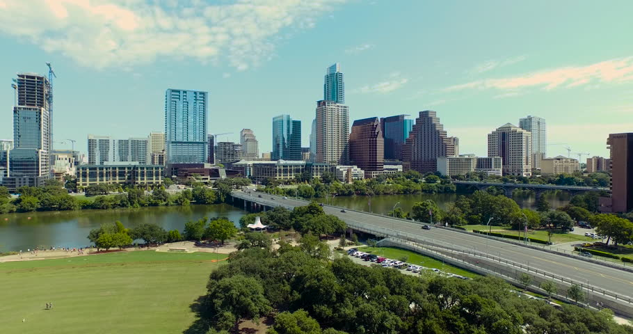 streets and city in austin  texas image