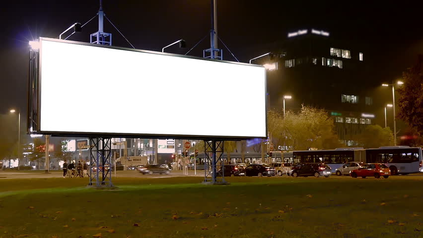 City Light and Billboard Poster Mock Up Bundle. Easy place your poster design on this white background. Three different views on the poster background. | Shutterstock HD Video #12736385