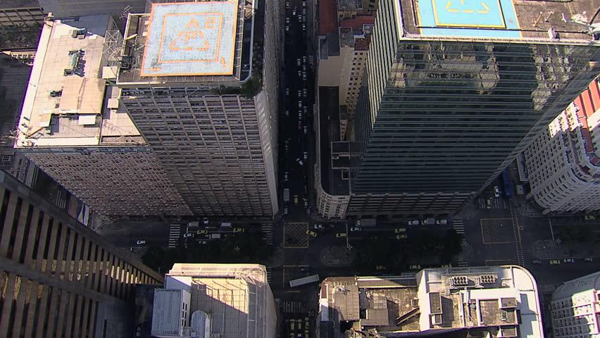 Rio de Janeiro City Buildings, overhead aerial shot | Shutterstock HD Video #12793781