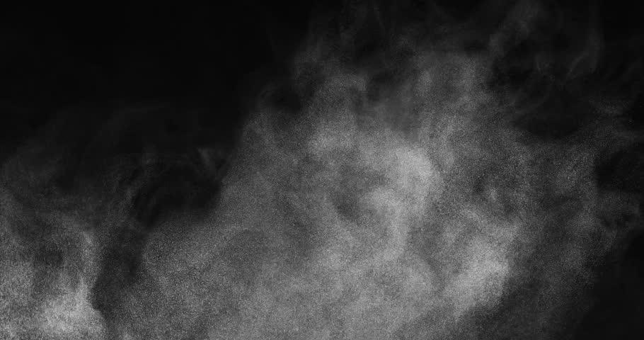 Wispy cloudy atmospheric effect shot in studio
