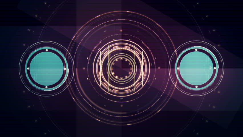 Fast changing futuristic HUD display elements. Hundreds of combinations for still imaginary. Great for overlayed graphics and for VJ work. Looping animation. Combination 2