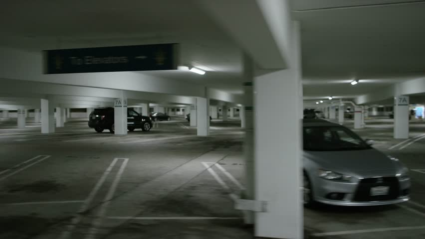 Hollywood: Los Angeles, CA USA Set #50 - Right Side View angle: Car travels through parking structure at The Grove Shot on RED Dragon. | Shutterstock HD Video #12831101