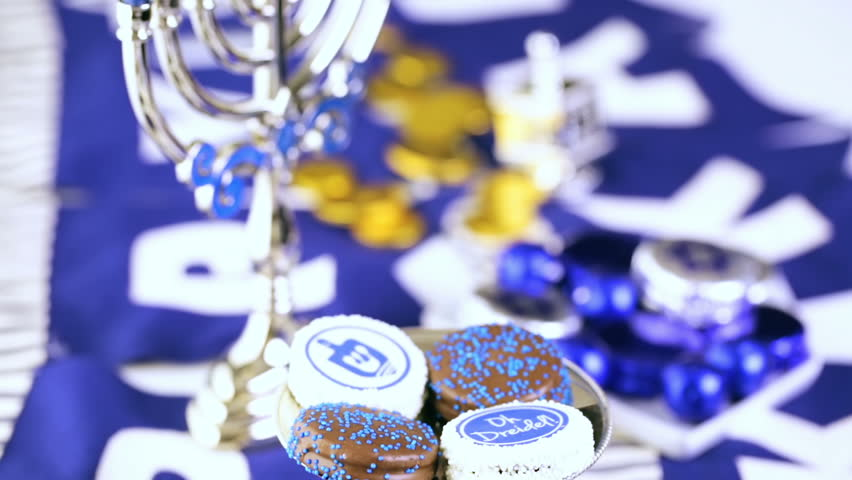 Chocolates with Star of David for Hanukkah.   Shutterstock HD Video #12837971