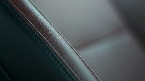 Car leather seat stitching