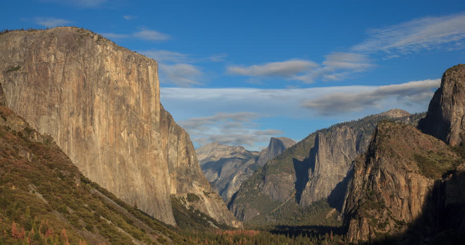 Yosemite Valley Tunnel View 5k Stock Footage Video 100 Royalty Free 12902921 Shutterstock