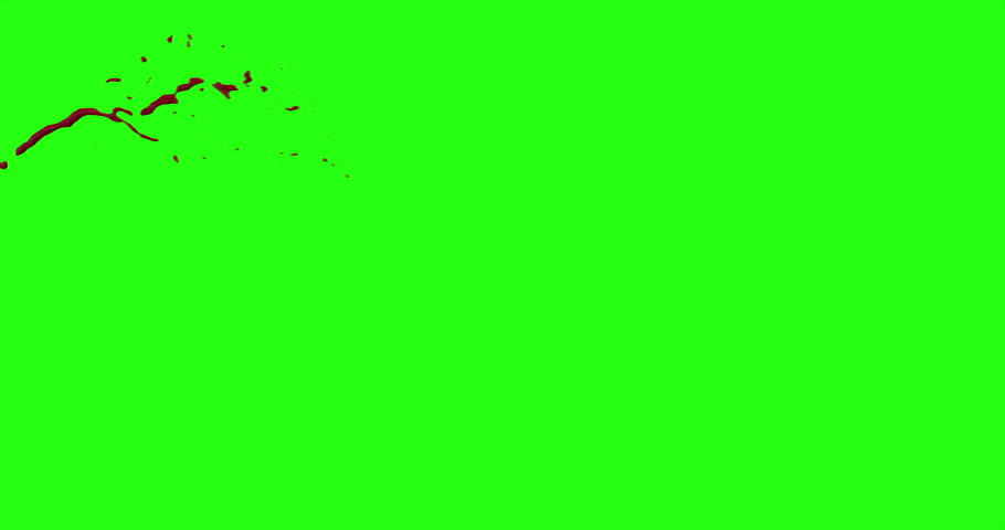 4k Blood Burst Motion Blur (Green Screen) 16 #12952301