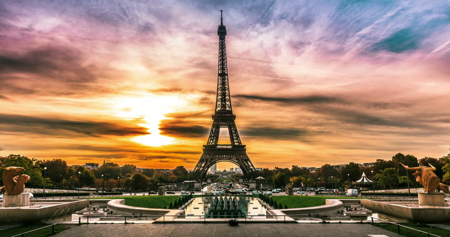 Sunrise of Paris Stock Footage Video (100% Royalty-free ...