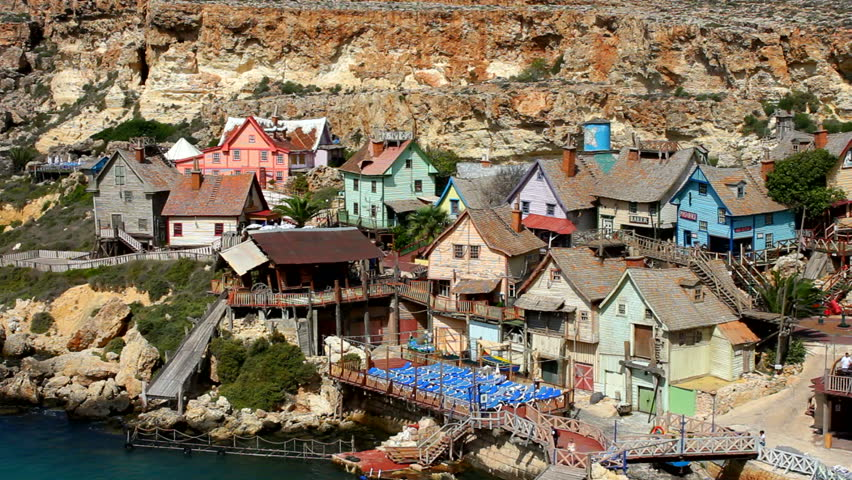 popeye village anchor bay malta september 102010 timber houses of