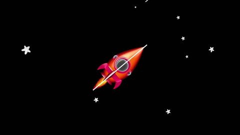 Cartoon Space Rocket Animation Include Alpha Matte and Seamless Loop. You Can Use Whatever You Want As a Background.