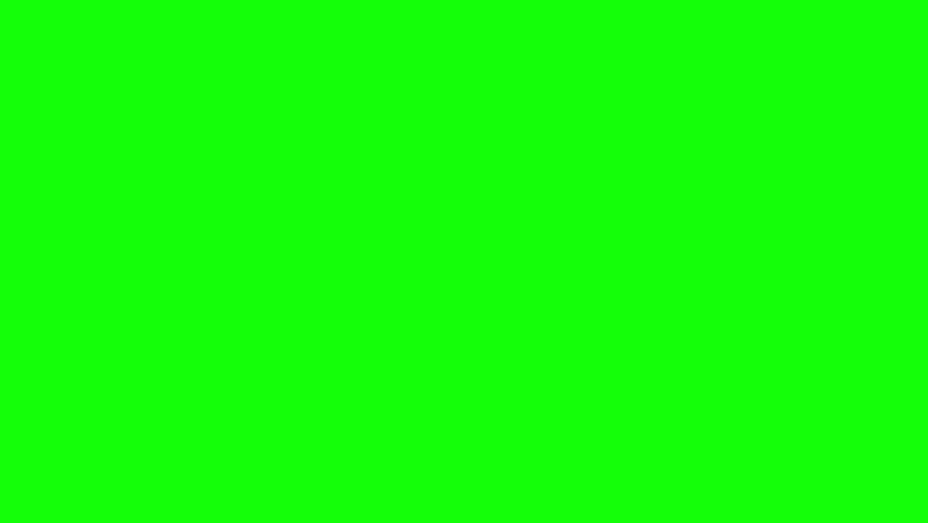Computer generated animation of a racing checkered flag waving over green screen. High definition 1080p.