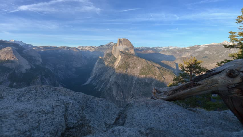 Glacier Point Sunset - Motion control time lapse looking out over Yosemite Valley from Glacier Point.