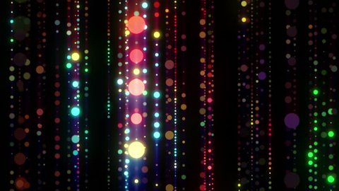 Disco LED lights colorful particles seamless background for music videos, holiday events, christmas and new year slide shows, night clubs, stage design, mix, openers, awards, concert, videodecorations