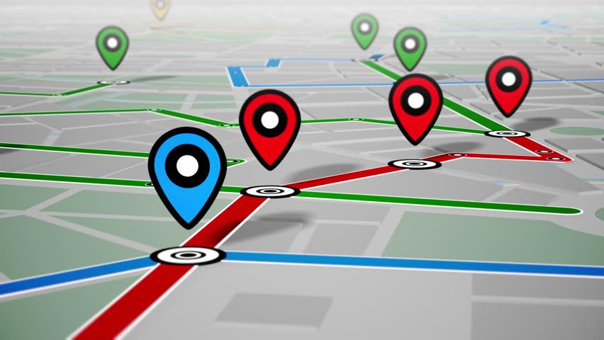 GPS Navigation, Localization. Seamless loop. 4k - Ultra HD.   Shutterstock HD Video #13255631