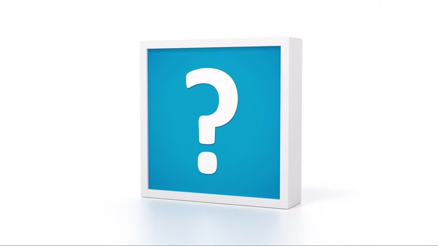 Blue question mark sign rotating endless | Shutterstock HD Video #13256441