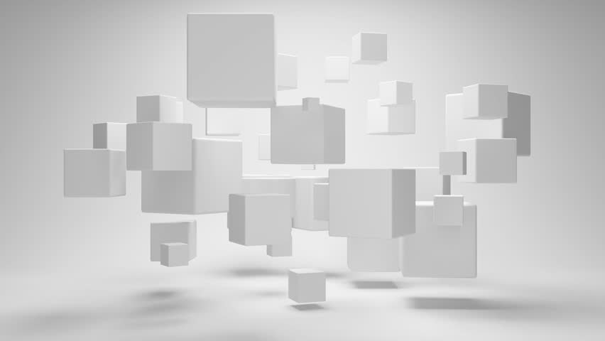 Abstract geometric shapes from cubes in rotation | Shutterstock HD Video #1333477