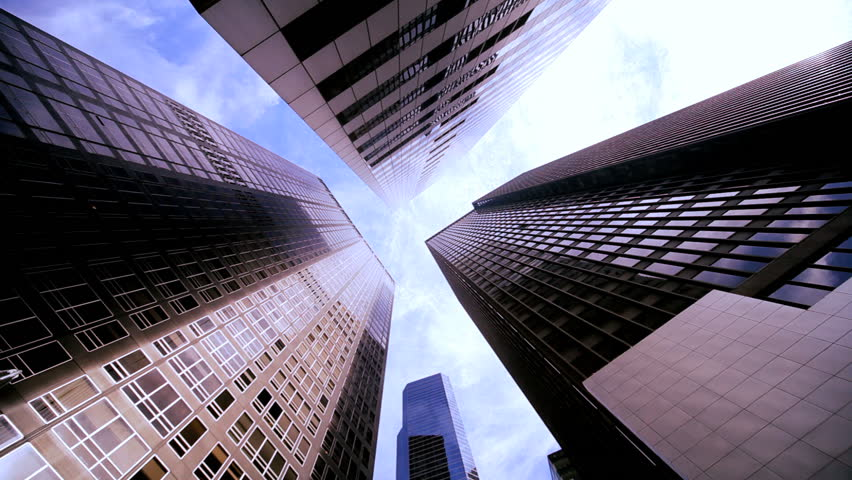 High-angle view of skyscrapers in the financial district of New York City, USA | Shutterstock HD Video #1334467
