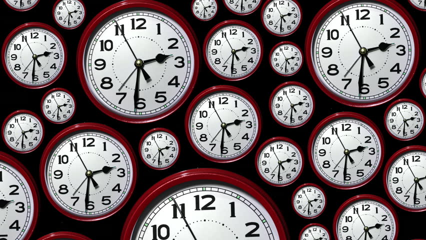 Track down over many time lapse clock faces all showing the same time but going backwards. Going back in time. Looking back. | Shutterstock HD Video #13349531