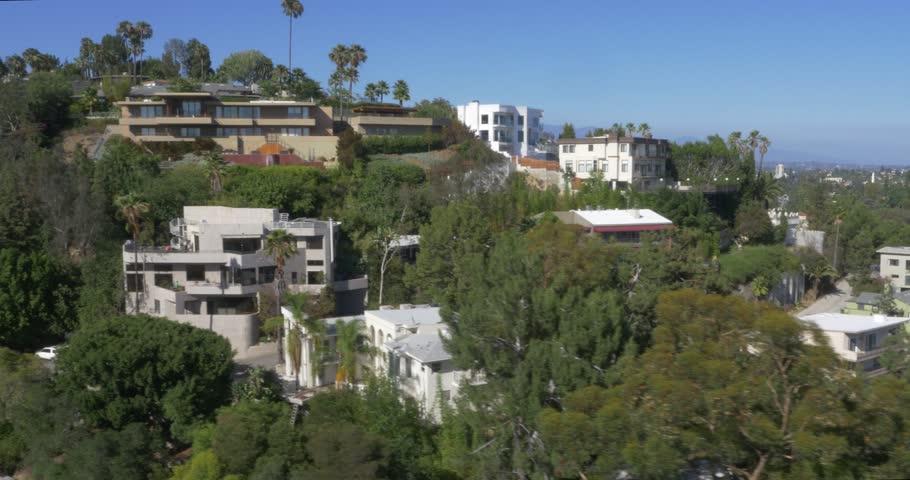 Aerial Shot of Luxury Homes in Los Angeles, California  | Shutterstock HD Video #13355951