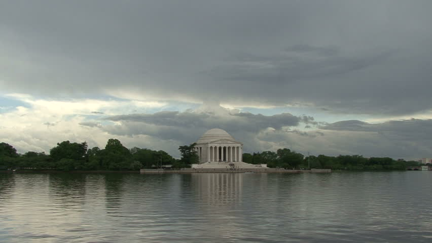 Timelapse footage of the Jefferson Memorial