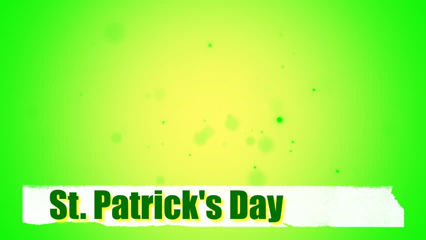 St. Patrick's animated clovers against a green background. For use as a general backdrop, design element or as an overlay for placement of text or other copy. | Shutterstock HD Video #13402292