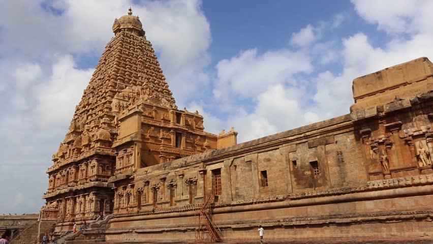 Brihadeeswarar Temple In Thanjavurtamil Naduindiadecember Stock