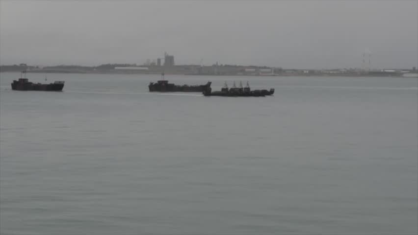 TROIA Portugal, November 2015, Landing Ships Drive Coast | Shutterstock HD Video #13435523