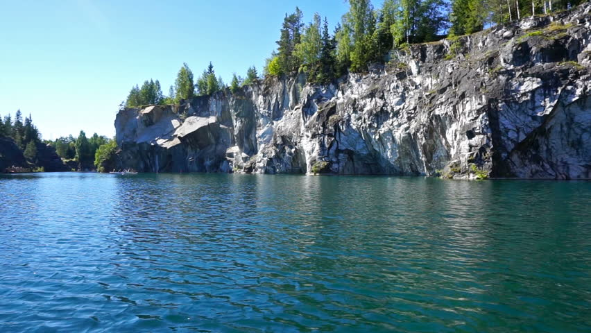 Swimming in Marble Quarry in Stock Footage Video (100% Royalty-free)  13528871 | Shutterstock