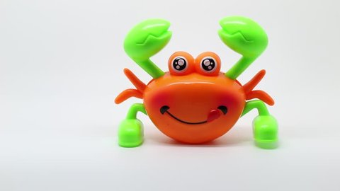 clockwork colorful crab walking with smile face wind up toy