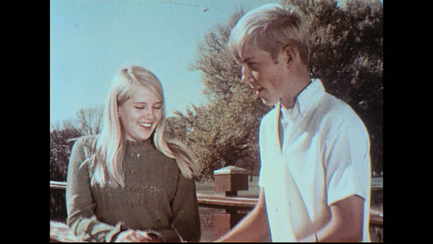 UNITED STATES 1960s Youth Group Boy And Girl Go Sailing Dancing