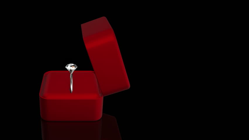 Animation of diamond ring in gift box for jewelry. Background for movies about proposal of wedding or declaration of love. | Shutterstock HD Video #13623191
