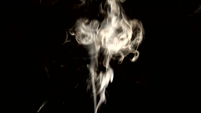 White smoke on black background | Shutterstock HD Video #13635431