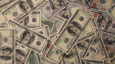 Money Surge Mixed Bills Raining Stock Footage Video 100 Royalty